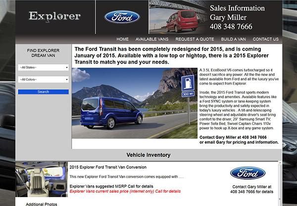 Explorer Ford Transit Van Conversions